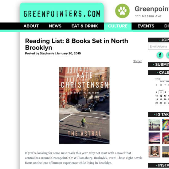 Greenpointers - 8books set in NBrooklyn