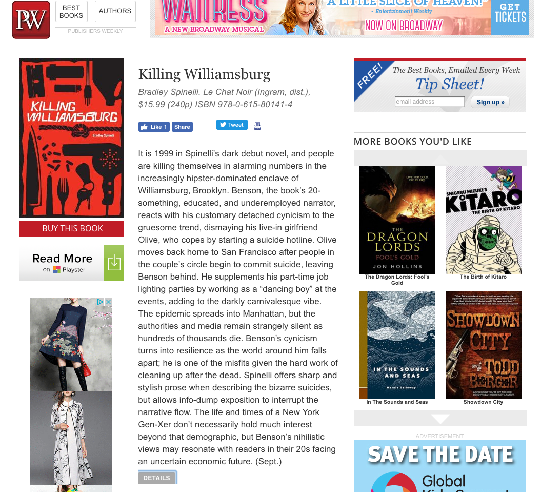 Publishers weekly-Screen shot -