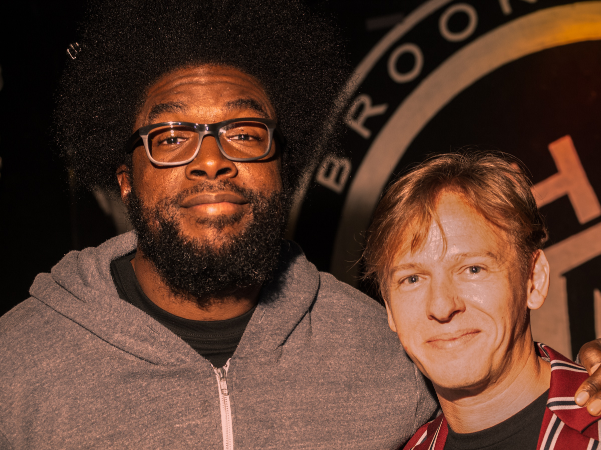 Spinelli with Questlove at the Killing Williamsburg Launch – photo by Monty Leman