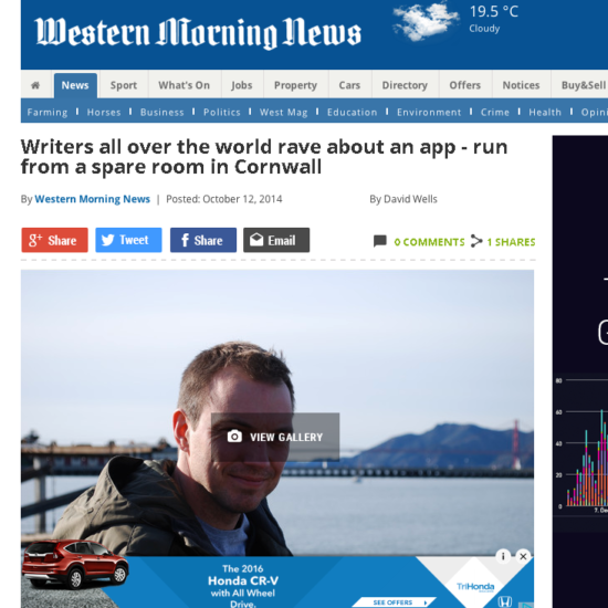 Western Morning news-masthead